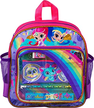 Shimmer and Shine Large Backpack with Stationery, Side Mesh and Pockets: Amazon.es: Equipaje