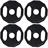 BodyRip Unisex Olympic 2 inch Weight Plates, Black