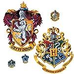 Roommates Rmk1551Gm Decoración Gigante de Pared Escudo de Harry Potter, Pela y Adhiere