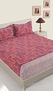 Swayam Sparkle Collection - Queen Fitted DBS 1 Fitted Sheet -11019