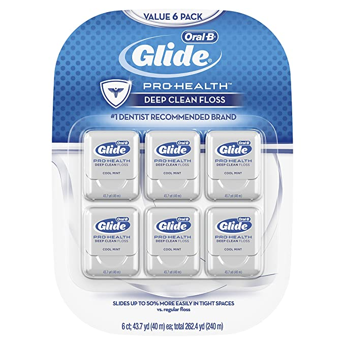Glide Oral-B Pro-Health Deep Clean Floss, Mint, Pack of 6