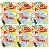 Disney Dumbo Party Favors Pack ~ Bundle of 6 Dumbo Grab n Go Play Packs Filled with Stickers, Coloring Books, Crayons with Bonus Puffy Stickers (Dumbo Party Supplies)