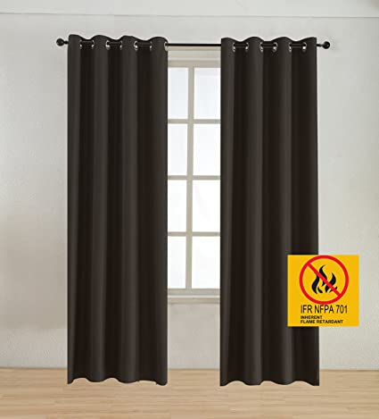 BEGOODTEX Flame Retardant Curtains Faux Linen Blackout Drapery Noise Reduction Thermal Insulated Window Treatment For Hotel