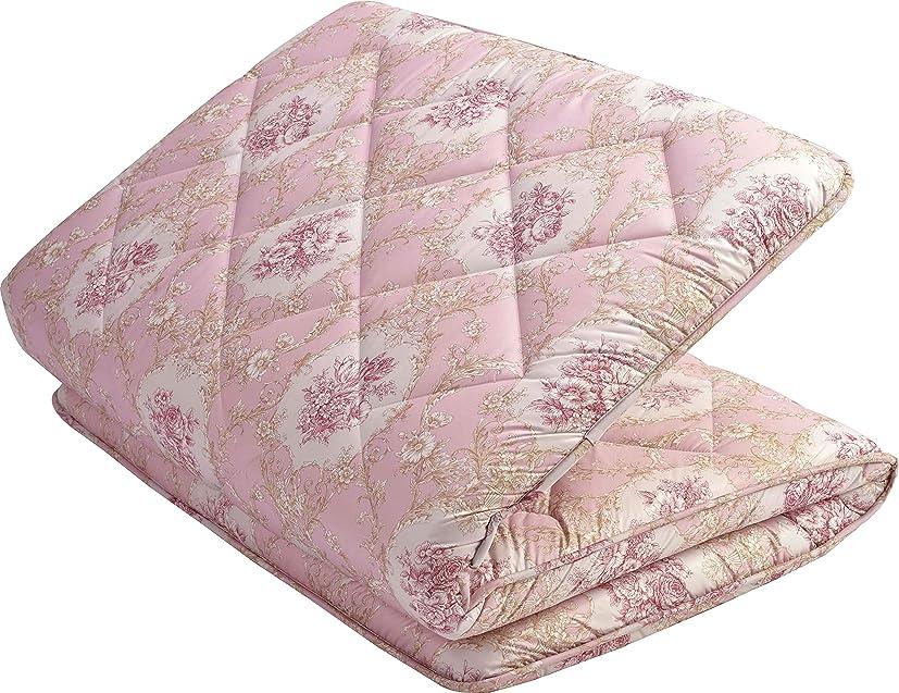 ピークシェア無臭東京西川 羊毛混 三層式 敷き布団 体圧分散 凸凹プロファイル 抗菌防臭生地使用