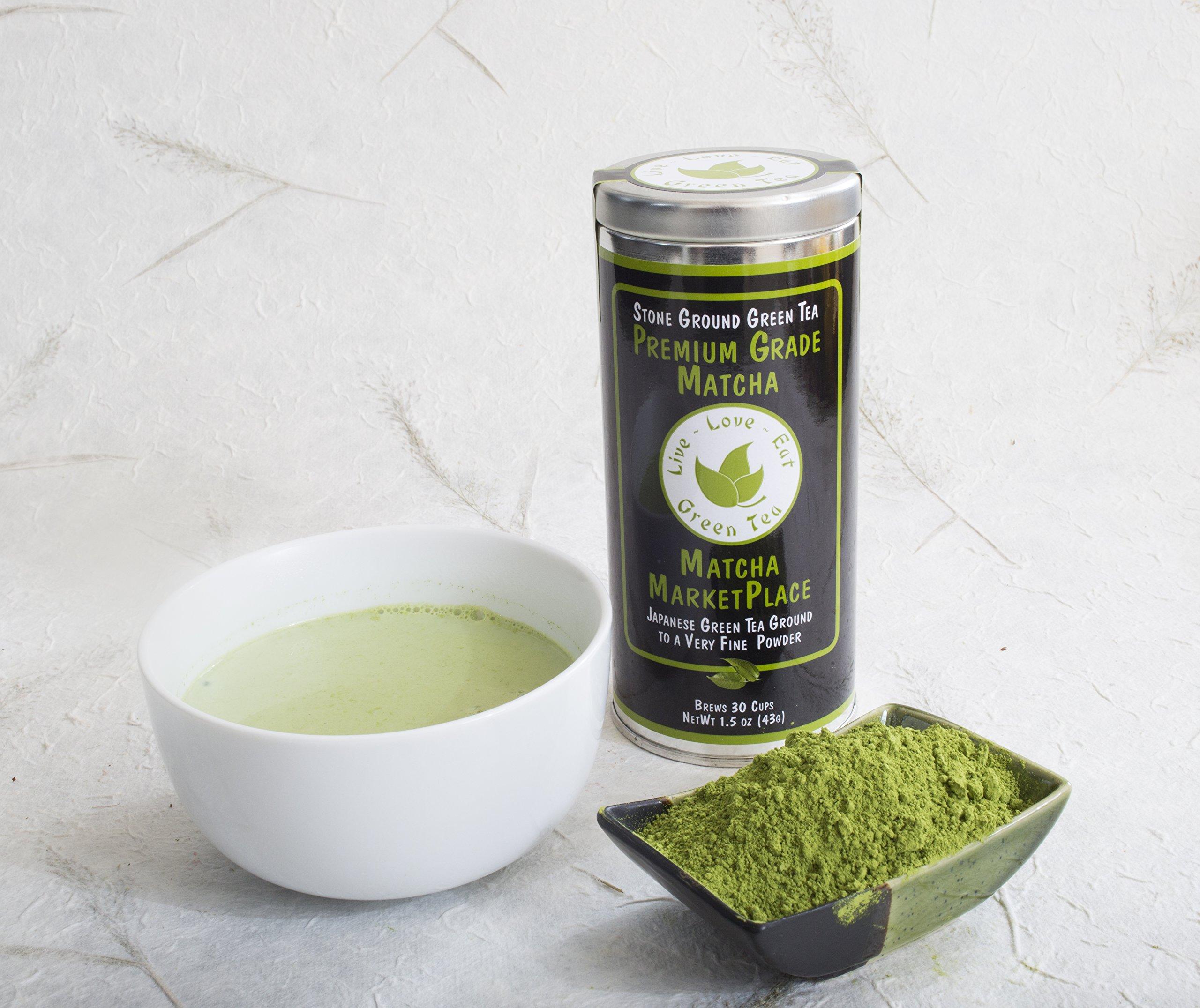 100% Pure Premium Grade Matcha Green Tea Powder, 1.5 Ounce, 30 Cups by Matcha Marketplace by Matcha MarketPlace