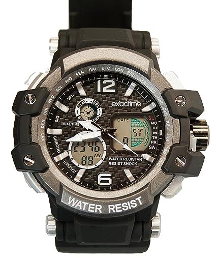 EXACTIME 1420 NEGRO- Reloj Deportivo resistente al agua Unisex - Análogo/ Digital: Amazon.es: Relojes