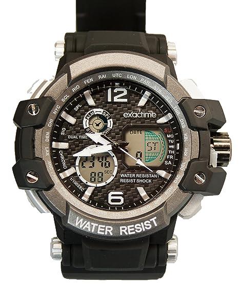 Reloj Al Deportivo Unisex Negro Resistente Exactime Agua 1420 tQhrxdCs