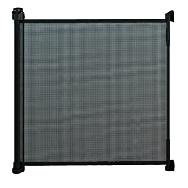 Gaterol Active Lite Black - Retractable Safety Gate - Super Safe 36.6  Tall and Opens up to 55