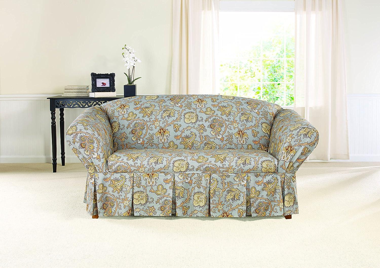 Amazon: Sure Fit Tennyson 1-Piece - Sofa Slipcover - Onyx (SF44463):  Home & Kitchen