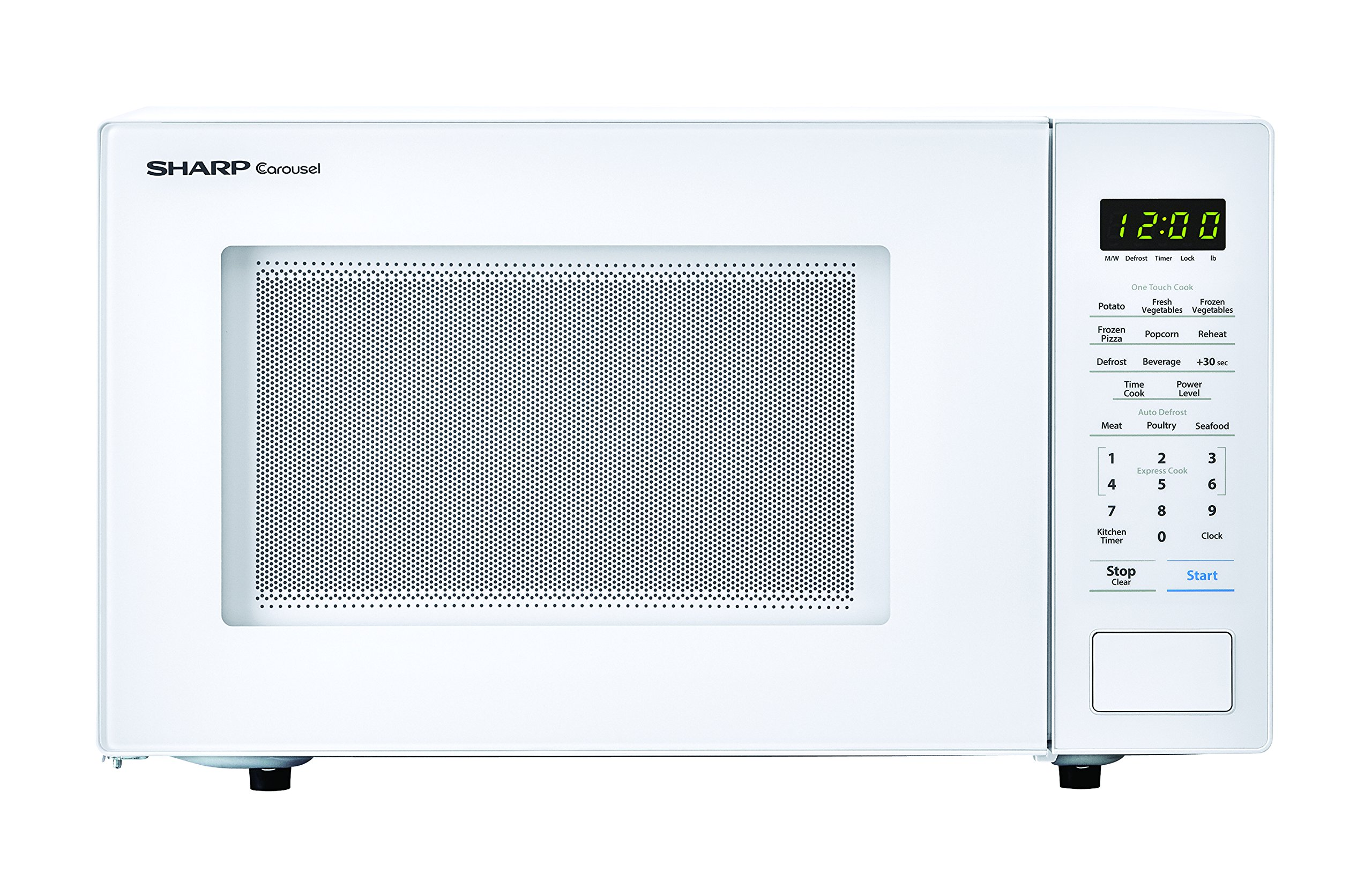 Sharp Microwaves ZSMC1131CW Sharp 1,000W Countertop Microwave Oven, 1.1 Cubic Foot, White