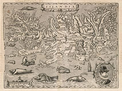Amazon.com: Historic Map | Islandia (Iceland). 1600, World Atlas ...