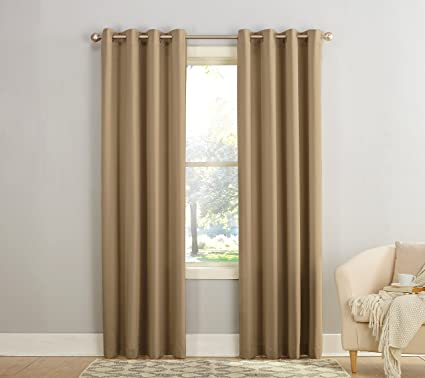 Sun Zero Barrow Energy Efficient Grommet Curtain Panel, 54u0026quot; X  84u0026quot;, ...