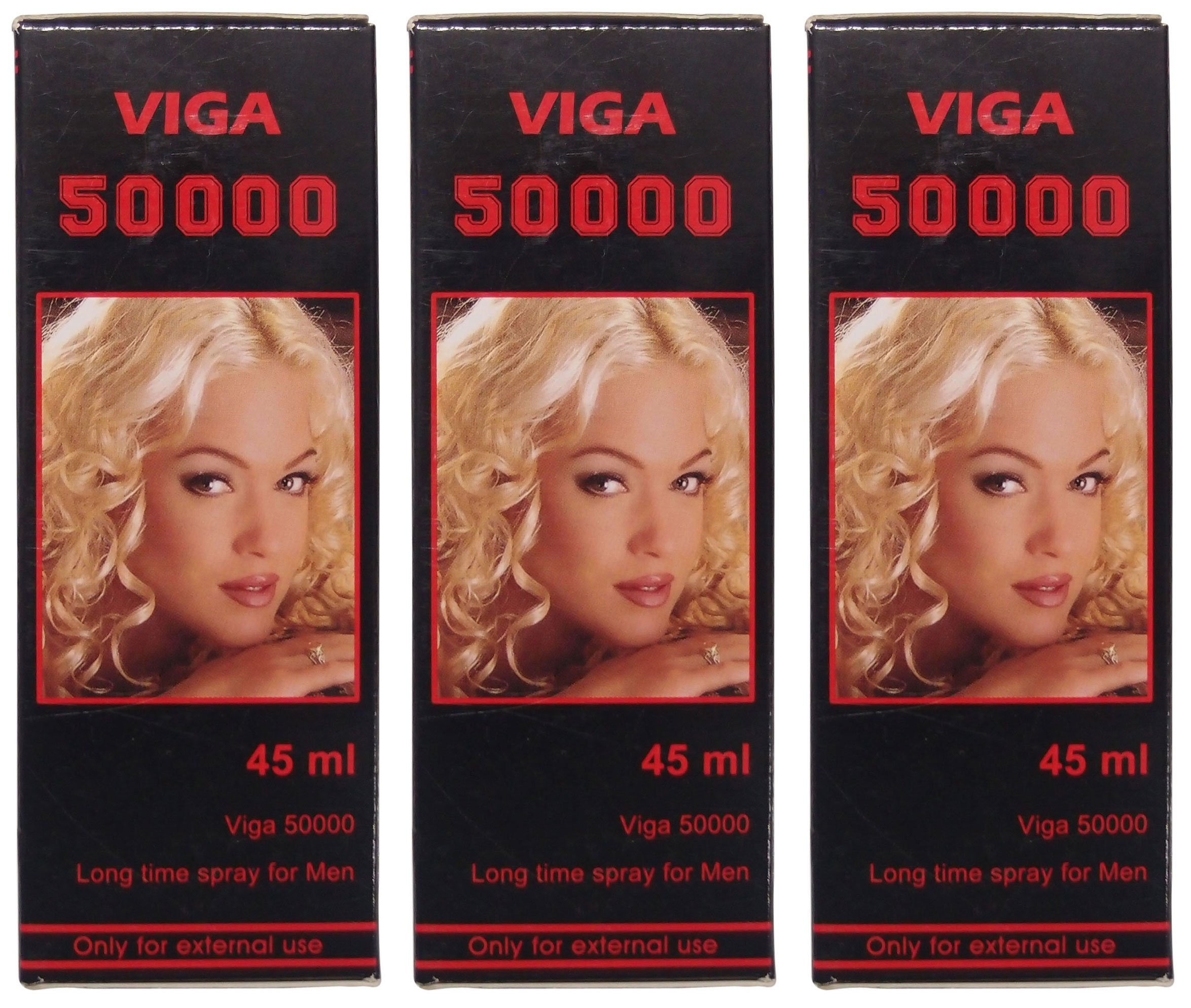 3 X Viga 50000 (Delay Spray for Men) with Vitamin E - Expedited International Delivery - PLUS LOVE POTION PEN by Viga 50000
