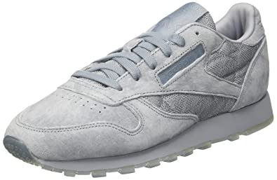Reebok Damen Classic Leather Lace Sneaker Grau (Meteor Grey/White) 39 EU