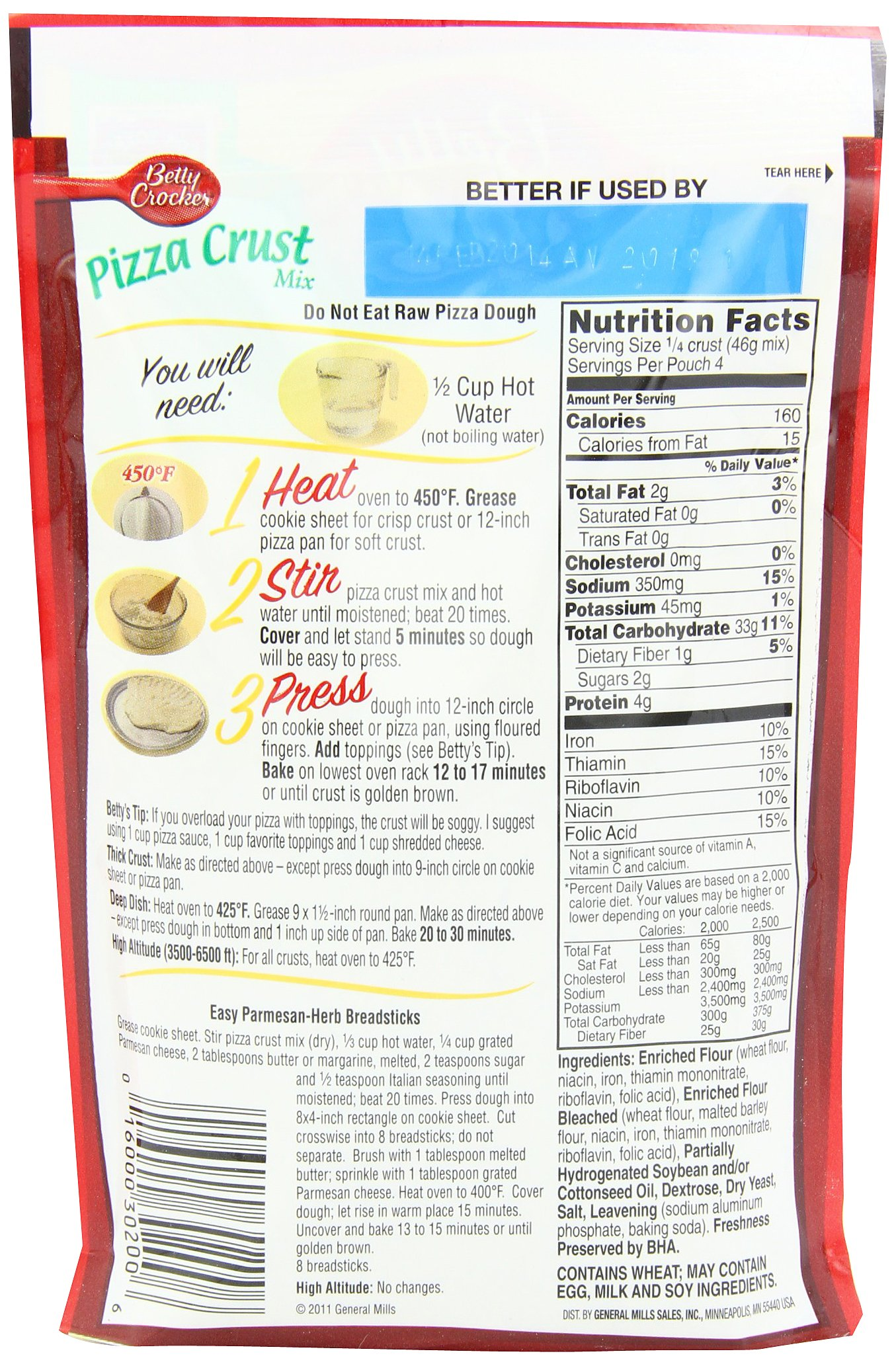 Betty Crocker Pizza Crust Mix, 6.5-Ounce Pouches (Pack of 24) by Betty Crocker (Image #3)