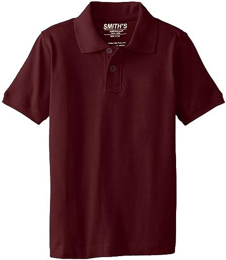3aaea5939 Smith's American Little Boys' Polo Shirt, Burgundy, ...