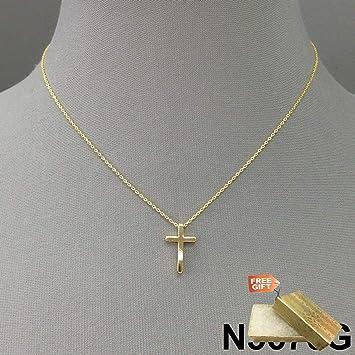 Amazon Com Elegant And Simple Gold Finish Cross Shape Design