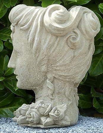Pflanztopf Osterinsel Moai Büste Blumentopf Garten Balkon Terrasse Dekoration