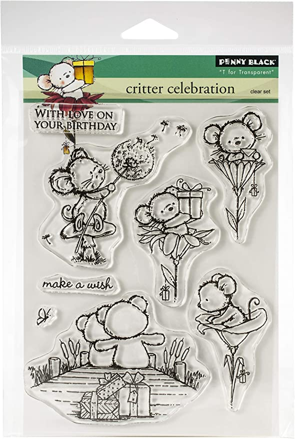 Penny Black Clear Stamps-Critter Party