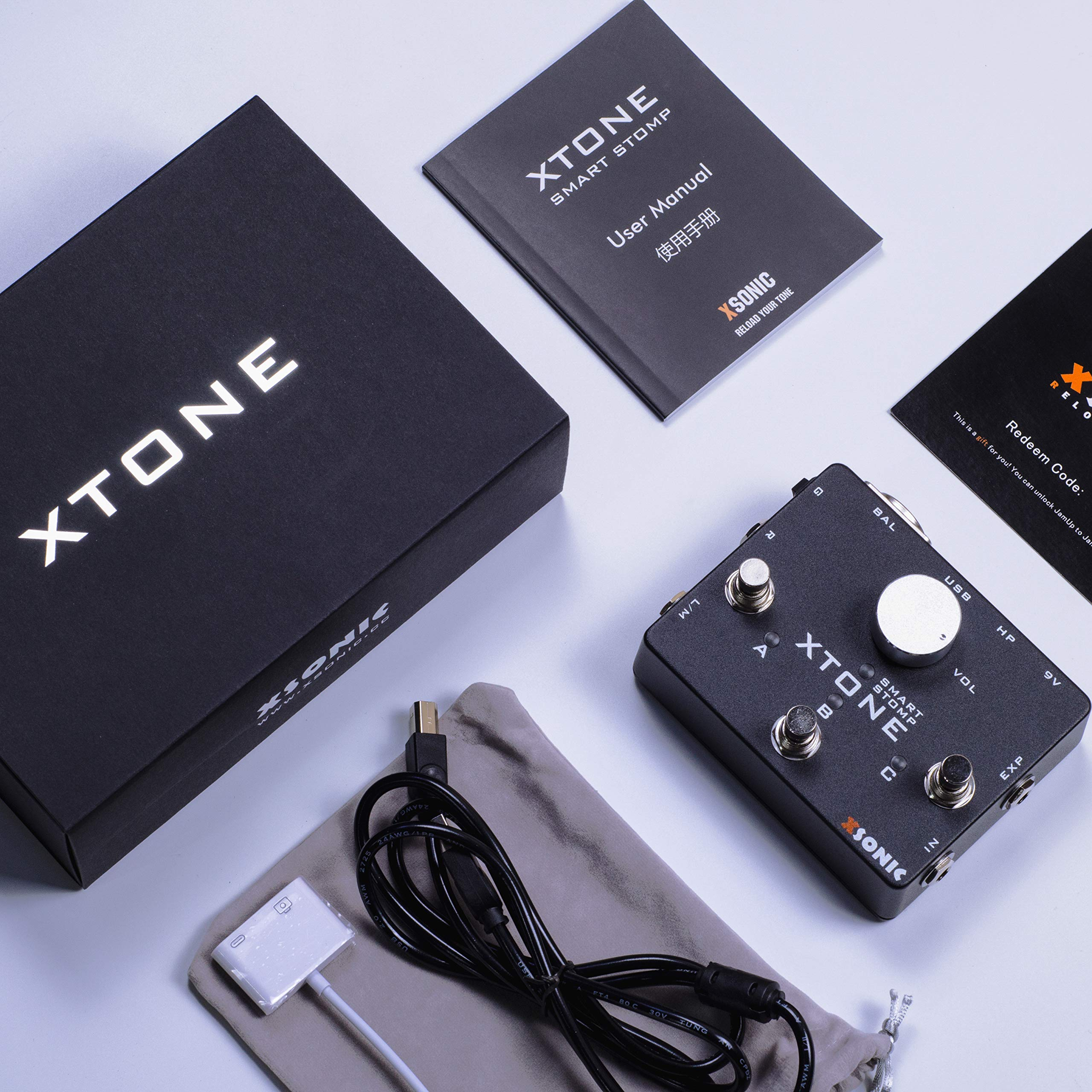 XTONE 192K Mobile Guitar Interface With MIDI Controller & Ultra Low Latency & BIAS & JamUp by XSONIC (Image #8)
