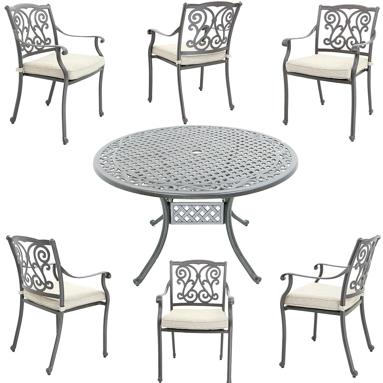 Aluguss Gartenmöbel-Set, Gartenmöbelgarnitur bestehend aus ...
