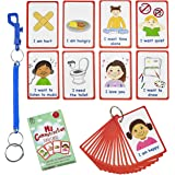 Special Needs My Communication Cards for Special Ed, Speech Delay Non Verbal Children and Adults with Autism 27 Flash Cards f