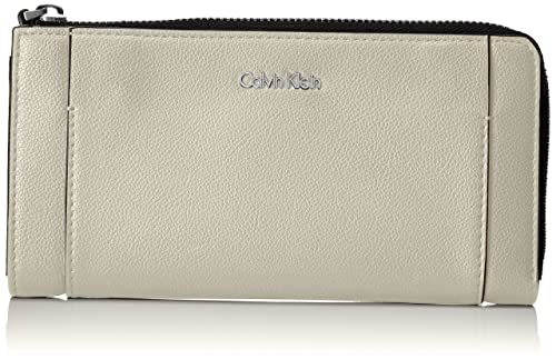 Calvin Klein - Metropolitan Large Zip Around S, Carteras Mujer, Gris (Cement/