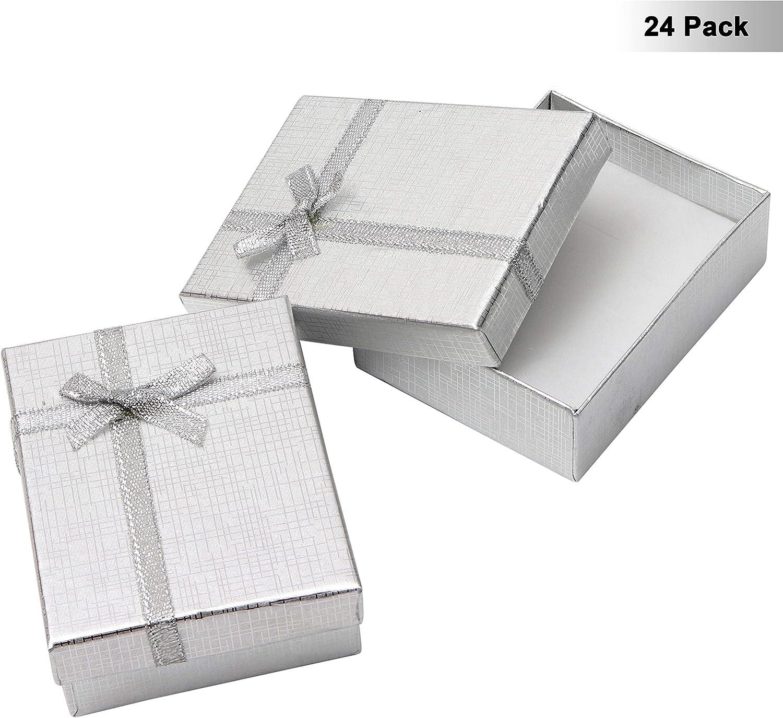 Kurtzy Cajas de Regalo Joyeria (Pack de 24) - (8,5x6,5x2,5cm ...