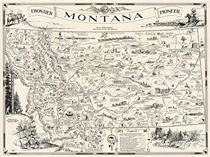 Amazon.com: Historic Map | A Map of Montana whereon is ...
