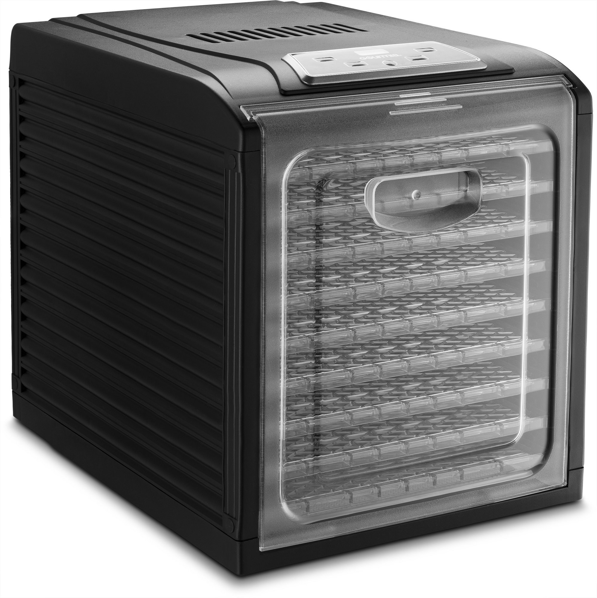 Gourmia GFD1950 Digital Food Dehydrator - 9 Drying Trays Plus Fruit Leather Tray - Digital Temperature Control - Transparent Window - Free recipe Book Included by Gourmia (Image #3)