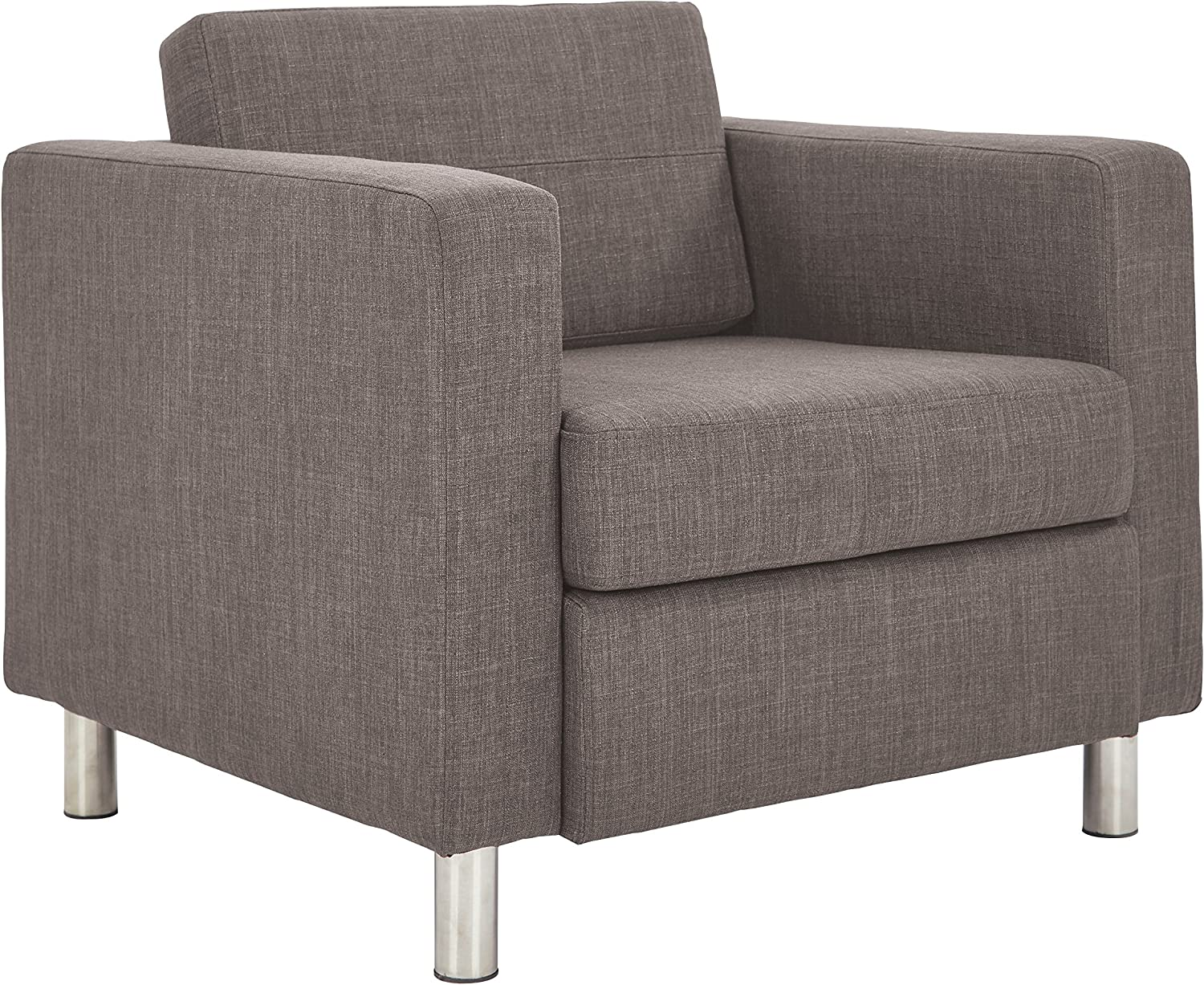 OSP Home Furnishings Pacific Armchair, Cement