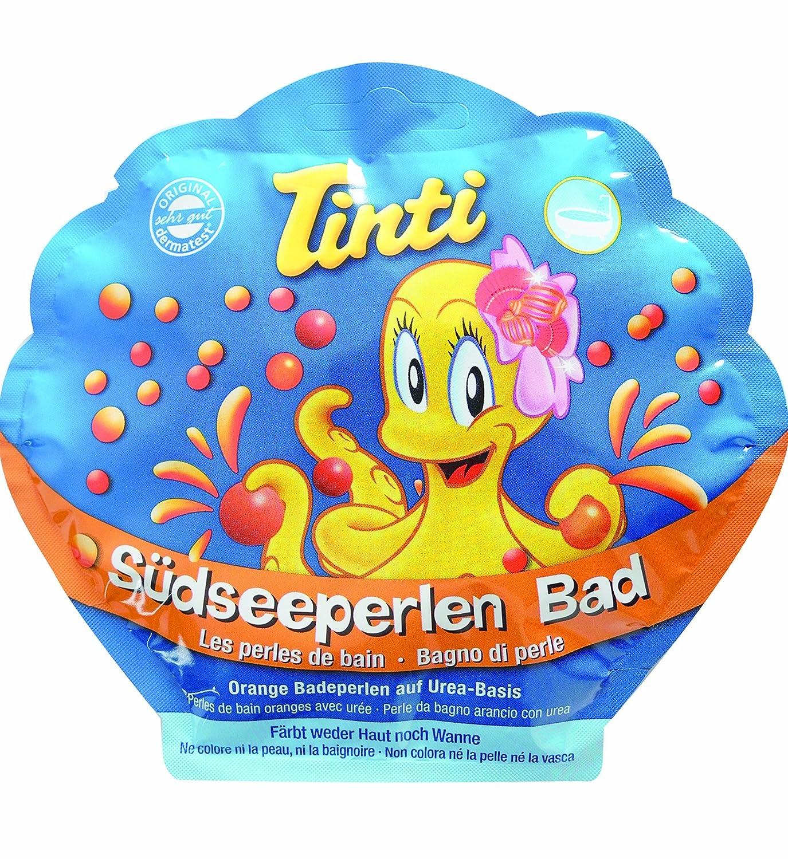 TINTI Perlenbad gelbe+rote Perlen, Pfirsich Duft, für Kinder für Kinder