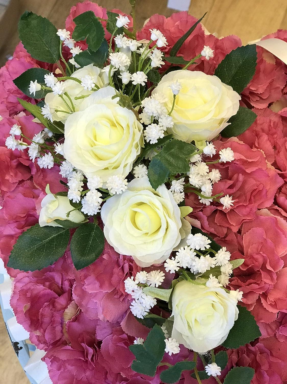 Heart shaped artificial silk funeral flowerswreathtributememorial heart shaped artificial silk funeral flowerswreathtributememorial amazon kitchen home izmirmasajfo