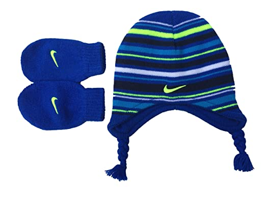 51e38d9e135 Nike Infant Toddler Boys` Knit Cap and Mittens Set (12-24 Months ...