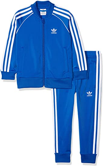 adidas Kinder Trefoil SST Trainingsanzug, Blue, 116: Amazon ...