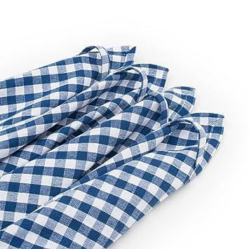 FILU Paños de cocina (8 unidades, azul / blanco) 50 x 70 cm paño de cocina / paño ...