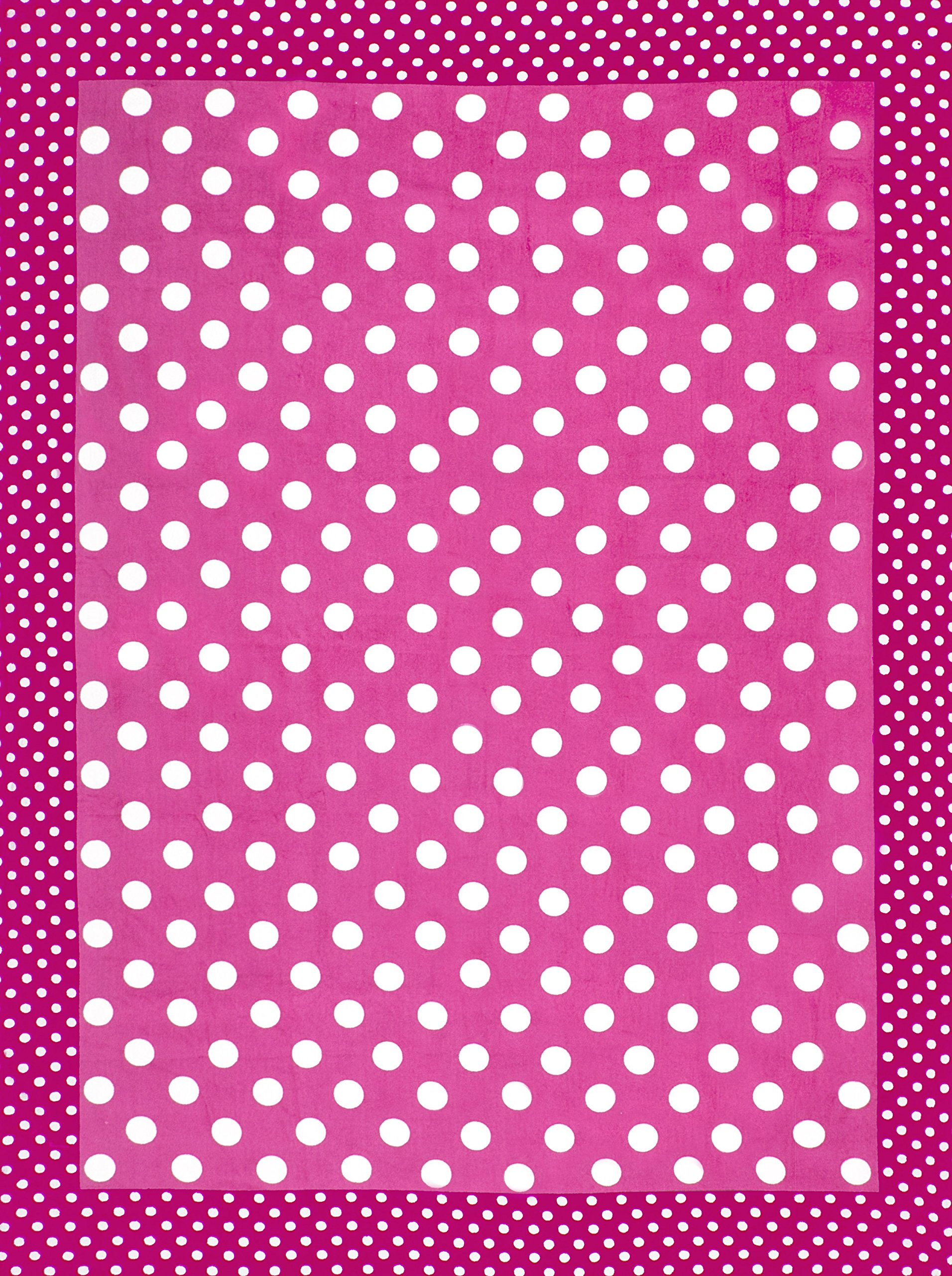 Dots and Dots Pink Brazilian Velour Beach Towel 58x74 Inches by Bahia Collection by Dohler