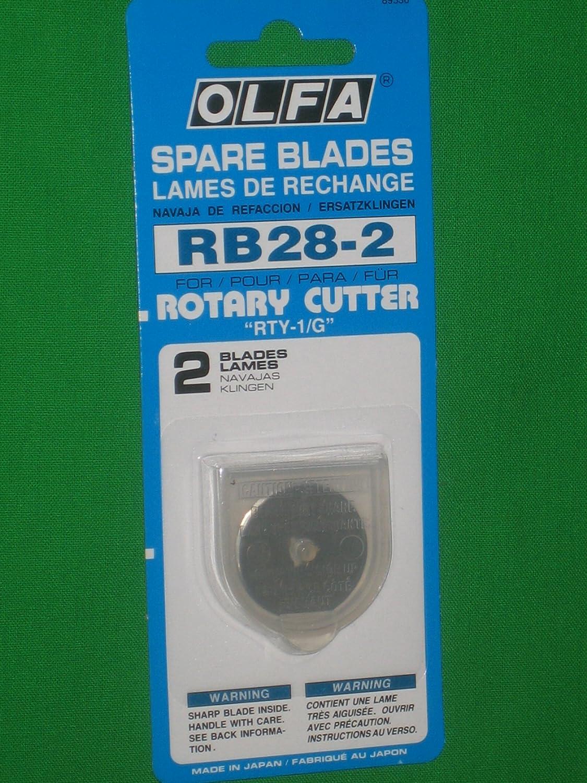 Olfa Rotary Blade Refills 28mm 2//Pkg