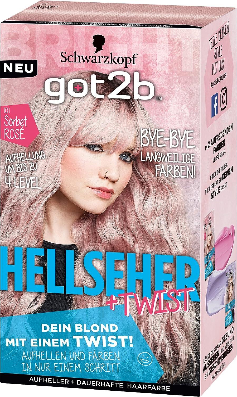 Schwarzkopf Got2b Hellseher Haarfarbe 101 Sorbet Rosé 3er Pack 3 X 143 Ml