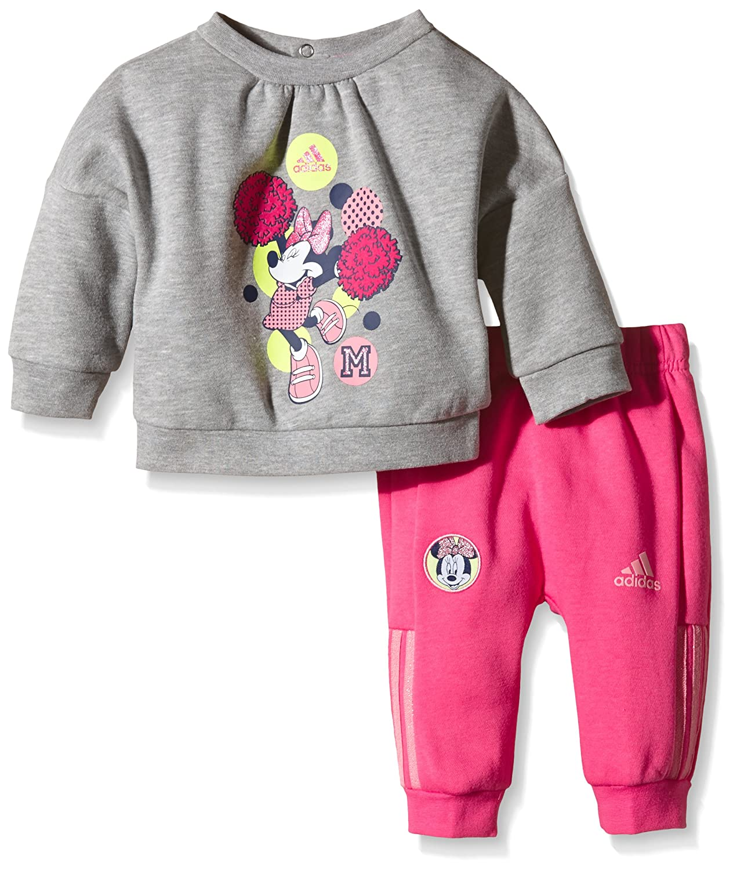 Adidas Baby Tuta da Jogging Minnie Mouse, Trainingsanzug Minnie Maus Jogginganzug, Grigio/Porpora, 104 ADIPD|#adidas AB5224