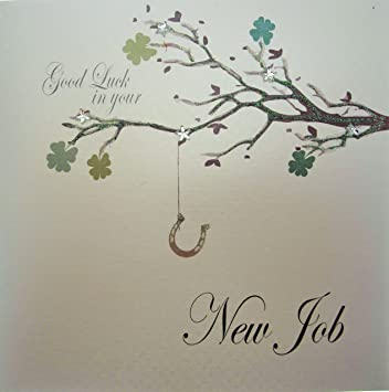 White cotton cards code pd85 good luck in your new job handmade new white cotton cards code pd85 good luck in your new job handmade new job card m4hsunfo