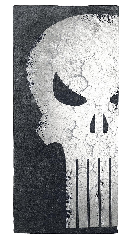 Marvel Punisher Skull Soft Cotton 28 x 58 Bath, Pool, Beach Towel Jay Franco and Sons Inc. JF64222EFL