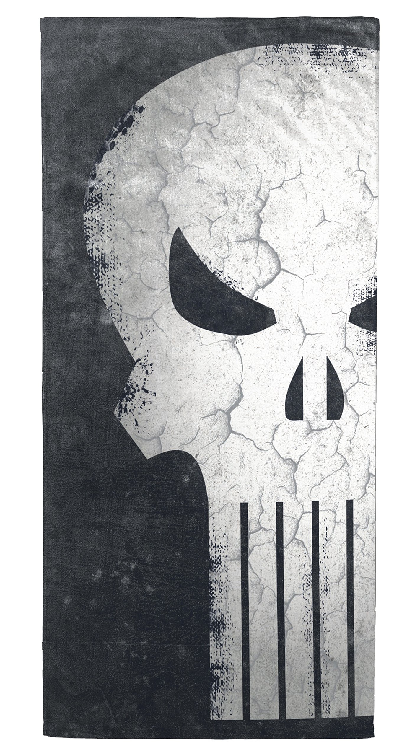Marvel Punisher Skull Soft Cotton 28'' x 58'' Bath, Pool, Beach Towel