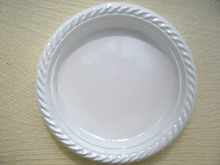 60 X Small White Plastic Disposable Plates - 17cm : disposable plates uk - pezcame.com