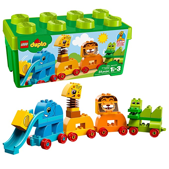 LEGO DUPLO My First Animal Brick Box 10863 Building Blocks (34 Piece)