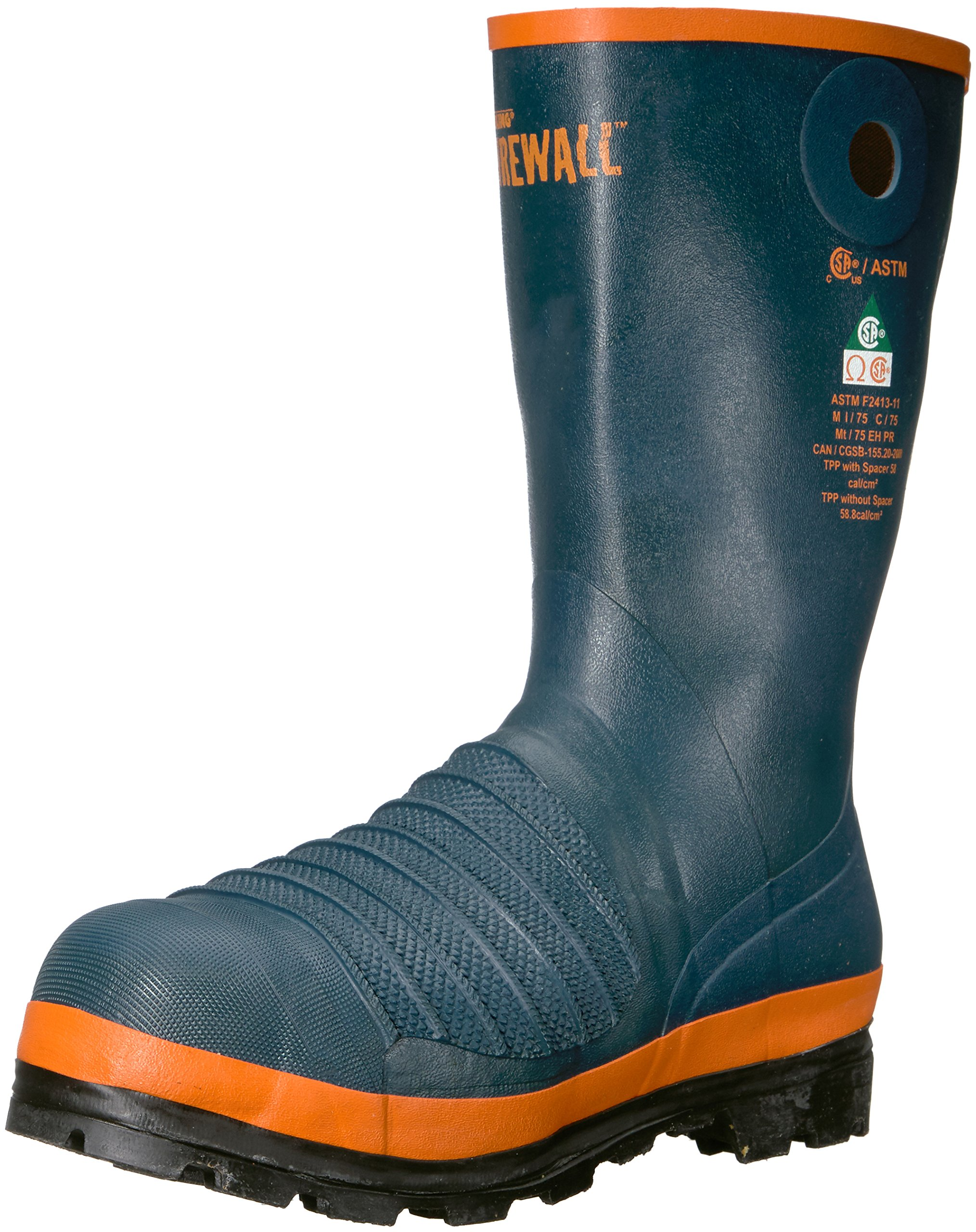 Viking Footwear Men's Viking Firewall Rigger Boot, Steel Toe and Plate Fire and Safety, Navy 14 M US by Viking Footwear