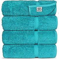 Chakir Turkish Linens Turkish Cotton Luxury Hotel & Spa Bath Towel, Bath Towel - Set of 4, Aqua