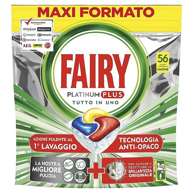 Fairy Platinum Plus - Pastillas para lavavajillas, limón, 56 ...
