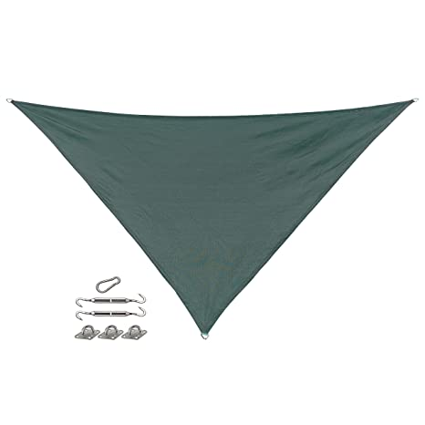 Amazon Com Coolaroo California Sun Shade Triangle Shade Sail With