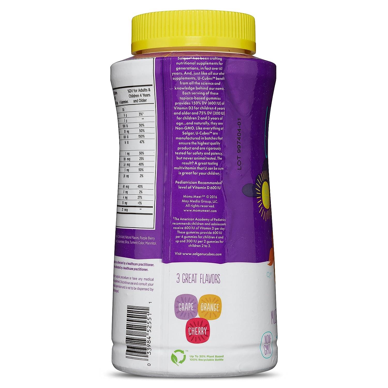 Solgar – U-Cubes Children s Multi-Vitamin   Mineral Gummies, 120 Gummies cc9bd1e04223